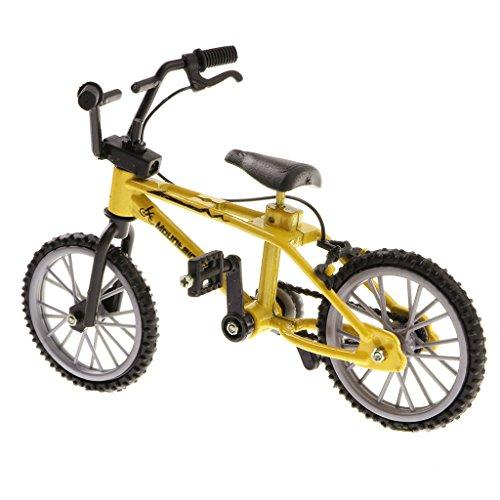 1 / 24th Mini Lega Bici Bike BMX Mountain Bicicletta da Bicicletta Giocattolo Regali Scrivania Gadget - Giallo # 2