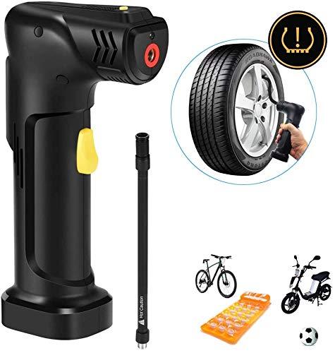IQQI Luftkompressor Bewegliche Auto-Luftpumpe Elektrische Handpumpe Mit Digital LED-Licht Für Auto-Fahrrad-Motorrad-Reifen-Kugel Aufblasbare & Abpumpbar