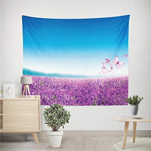 Tapiz de flores de lavanda decoración de impresión estilo mandala tapiz para colgar en la pared familiar toalla de playa tela de fondo a3 150x200cm