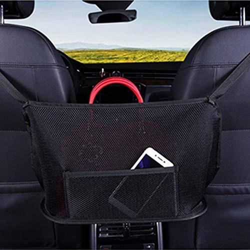 Wood.L Car Net Pocket Handbag Holder, Car Seat Storage Mesh Organizer, Handbag Holder For Car, Auto Seat Back Net Bag, Barrier Of Backseat Pet Kids