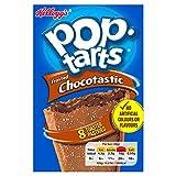 Kellogg's Pop Tarts Chocotastic | US Frühstücksklassiker für den Toaster | 8 Keksschnitten gefüllt mit Kakaocreme zum Toasten oder kalt Essen, 1 x 384g, 384 g
