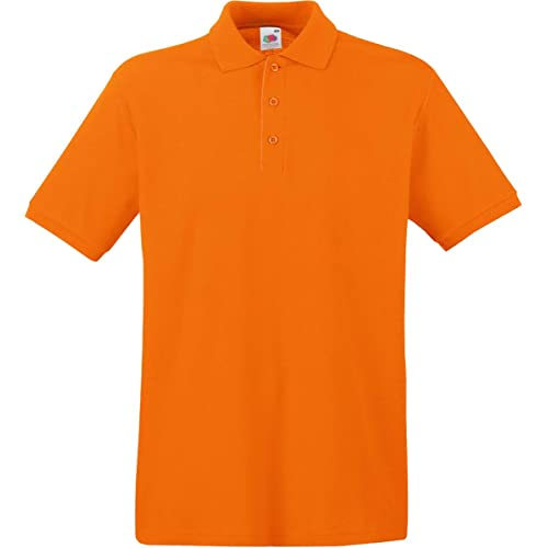 c4e38e8bb Fruit Of The Loom Premium Polo Orange M