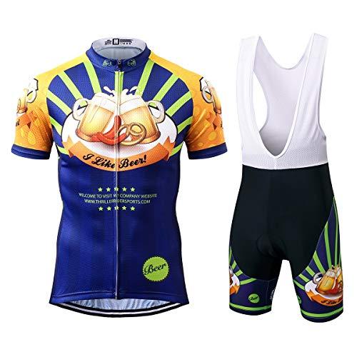 Thriller Rider Sports® Herren I Like Beer Sport & Freizeit MTB Fahrradbekleidung Radtrikot und Trägerhose Anzüge X-Large