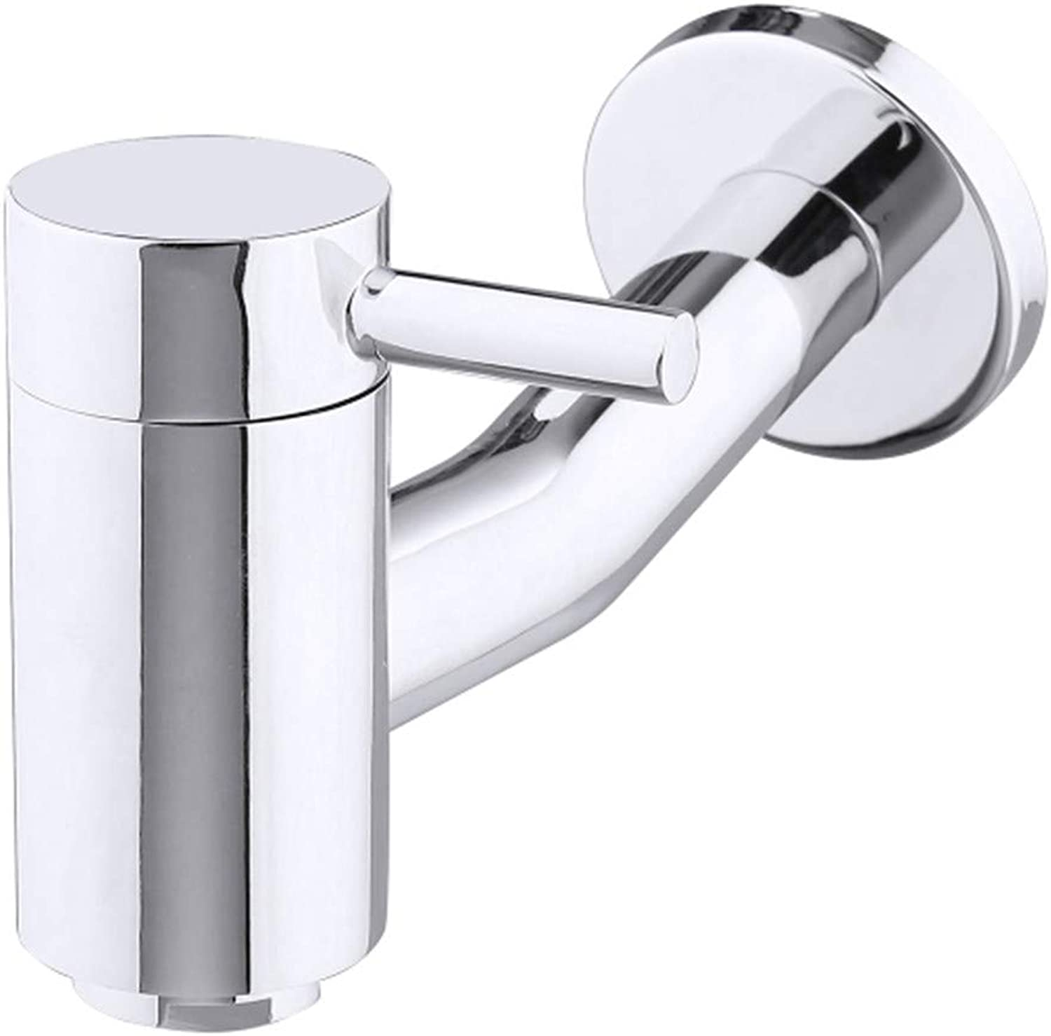 Faucet Modern Luxury Bathroom Chrome Polished Wall Mounted Single Cold Faucet 90Degree redation Bathtub Single Handle Basin Faucet Spout Water Filter