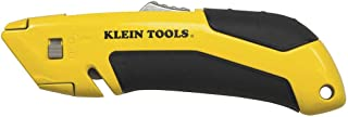 Utility Knife, Self-Retracting, Rubber Handle for No-Slip Grip Klein Tools 44136