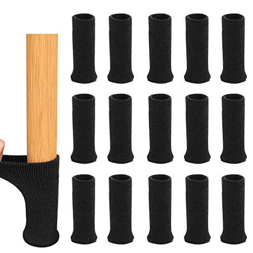 Möbel Socken, Parka Stuhlbein Bodenschutz, 16 Stück Stuhlbeinsocke Möbel Socken, Elastisch Möbel Socken, Schutzkappen Für Stuhlbeine, Anti-rutsch Cotton Stuhlfußabdeckung Für Tisch(schwarz)
