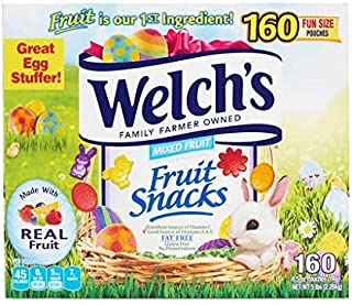 Welch's Easter Fruit Snack 160 Fun Size Pouches, 80 Ounce