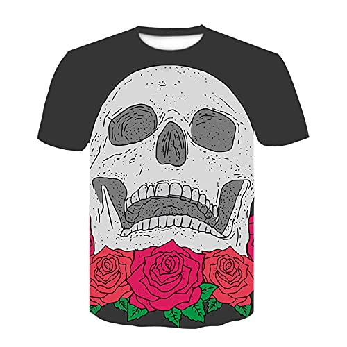 60d Casual T-Shirt,Fashion Men's Round Neck T-Shirt 3D Poster Image Digital Printing Short Sleeve-in one_M