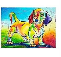 大人のジグソーパズル1000個の漫画犬動物大型ジグソーパズルフレンドゲーム、DIY知的教育、ストレス解消おもちゃ、面白い家族ジグソーパズルゲーム38x26cm