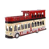 FLAMEER 1:28 Autobús Turístico De Dos Pisos Bus Turístico Bus Modelo Clásico De Juguete - Rojo