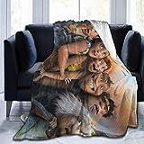 Gypsophila The Croods Decke, Übergröße, warm, für Erwachsene, superweiche Decke mit weichem Anti-Pilling-Flanell, für Erwachsene und Kinder, 3D-Druck, Mehrfarbig., 50'x40'