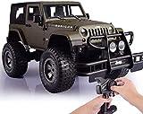 1: 8 Jeep Todoterreno Grande para Exteriores 27MHZ Radio Control camión de Escalada en Roca 4WD Resorte de Alta Velocidad Que Absorbe los Golpes RC Coche, LED sólido Resistente a caídas
