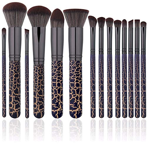 WBXZAL-Pinceau de maquillage outils de cosmétiques à cosmétiques mis 14 crack brosse brosse les habitudes face ensemble esthétique léopard