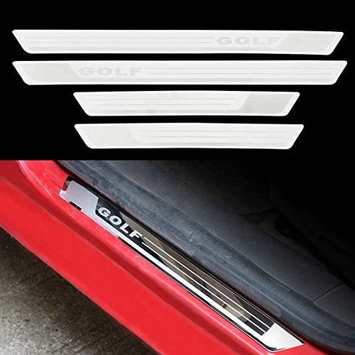 10JQK Auto Einstiegsleisten Türschweller für Volkswagen VW Golf 6 7 MK6 MK7 2008-2019, Car Door Sill Kick Plates Trittplatten Trims Cover Protector Dekoratives Zubehör, Edelstahl (4 Stück)