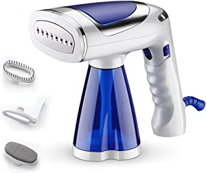 TooCust 1600-Watt Handheld Steamer for Clothes, Portable Travel and Home Use Steamer, Foldable Fabric Garment Steamer with 3 Brushes and 250ml Large Water Tank, 30s Fast Heat-up
