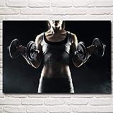 XIANRENGE Leinwanddrucke,Fitness Sport Training Frauen Hd-Drucken Poster Und Drucke Wand Kunst Leinwand Gemälde Für Wohnzimmer Schlafzimmer Haus Dekor Bild, 70 X 100 cm Ohne Rahmen