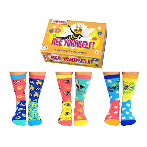 Bee Yourself Bienen Oddsocks Socken in 37-42 im 6er Set - Strumpf