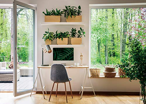 AIIKES 10x8FT Business Office Background Photography Background Interior Casement Window Work at Home Modern Fat Furniture Apartment Decoration Residential Decoration Video Office background11-882