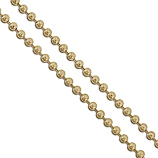 Stainless Steel Military Ball Bead Chain 2mm 3mm 4mm 6mm Dog Tag Link Pallini Necklace
