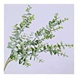 XDRE Planta Artificial Artificial plástico Plantones de Hojas Verde eucalipto Rama for decoración de jardín Boda de imitación Falso follaje Decoración de Navidad Falso (Color : Green Plant)