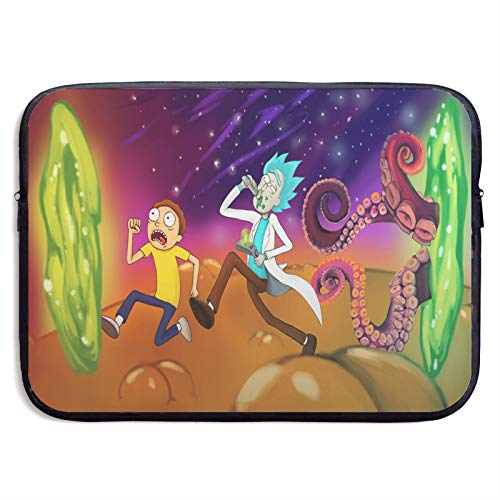 Rick and Morty Laptop Sleeve Handbag Bag Portable Water Resistant Computer Liner Laptop Case Cover 13-15 Inch