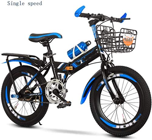 Lightweight Kids Bike Folding Mountain Bike 26in 21 Speed Bicycle Full Suspension MTB Bikes 7-8-10-12-15 Years Old, Middle School Children, Primary School Students, Mountain Bikes, Boys, Bicycles fold