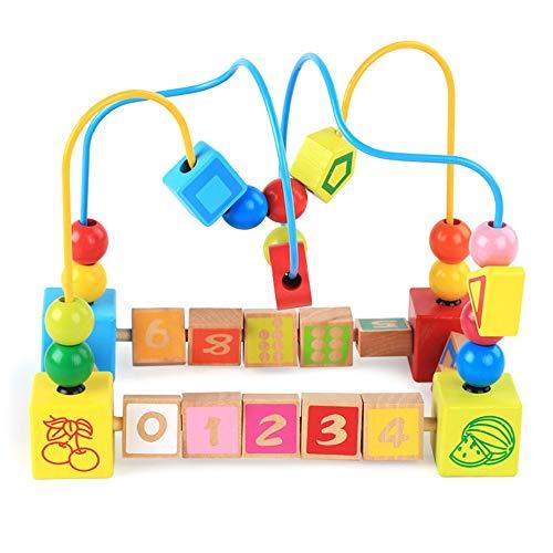 A principios de aprendizaje Actividad Cubos Juguet Bebé alrededor del círculo de la gota Habilidad mejora Juguetes de madera de regalo de cumpleaños for niños y niñas Cuentas Laberinto de la montaña r
