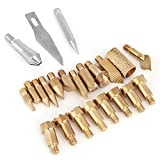 Wood Burning Pen Tips, 23Pcs Woodburning Accessories Stencils Soldering Iron Pyrography Working Carving