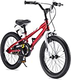 RoyalBaby Boys Girls Kids Bike 18 Inch BMX Freestyle 2 Hand Brakes Bicycles with Kickstand Child Bicycle Red