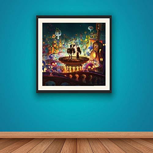 WSKPE DIY Ölgemälde-Kit, digitales Mal-Kit für Erwachsene, Moderne Wandmalerei Kunst Animationsbuch des Lebens Home Decoration Ölgemälde, 40 * 50cm