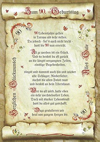 Die Staffelei Geschenk 90. Geburtstag Gedicht Präsent Jubiläum