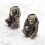CooB EDC Paracord Bead Beads, Beard Bead, Charm, Knife Lanyard Bead. Metal Hand-Casted Paracord Lanyard Beads Charms for Knife Lanyard Accessories. Alien vs Predator. 1pcs/Lot (Predator Bronze)