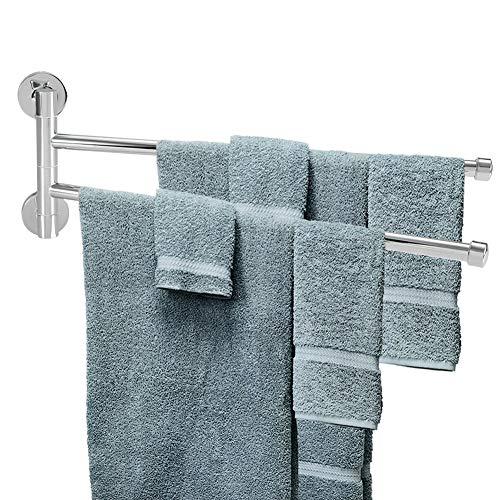 Wifehelper Toallero de pared - Toallero para baño (2 brazos)