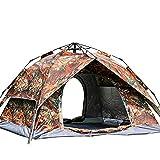 Instant Pop Up Camping Zelte für 3-4 Personen Familie, zweischichtiges Kuppelzelt, Winddicht...