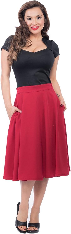 Steady Pocket High Waist Thrills Skirt in Red