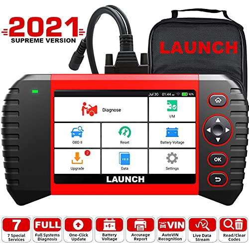LAUNCH 2021 Elite OBD2 Scanner, LAUNCH CRP Touch Pro Elite Code Reader with All System Diagnostic Scan Tool, 7 Reset Oil SAS EBP BMS Reset DPF ABS Bleeding Throttle Adaptation 7.0 Android,Free Update