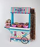 Candy bar Cupcakes La Asturiana - Mesa Dulce con 6 Kilos de Diferentes Golosinas y 2 Cajas con malvaviscos - Fácil de Montar y Reutilizable - Para eventos de tamaño medio y grande