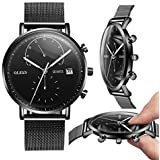 Big Face Military Tactical Watch for Men, Black...