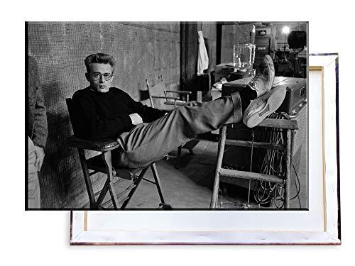 Unified Distribution James Dean - 100x70 cm Kunstdruck auf Leinwand • erstklassige Druckqualität • Dekoration • Wandbild