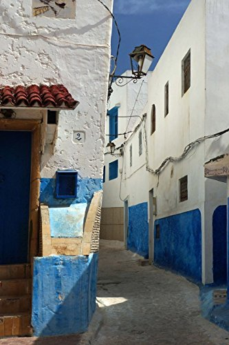 Narrow Street in Oudaia Kasbah in Rabat Morocco Journal: 150 page lined notebook/diary