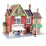 ZHX 3D DIY Rompecabezas de Madera, Montar Jigsaw construcción Modelo Kit Miniatura muñeca casa Creativa Handcraft Home Decor Juguete Educativo Regalo Set para niños (Tienda de Ropa británica)