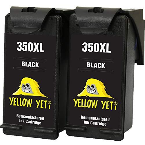 Yellow Yeti Remanufacturados 350XL 350 XL Cartuchos de Tinta Negro para HP Photosmart C4280 C4340 C4380 C4424 C4480 C4485 C4524 C4580 C4585 C5280 D5360 Deskjet D4260 D4360 Officejet J6424 J5780 J5785