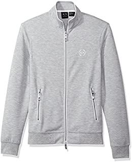 A|X Armani Exchange Men's Full Zip Mock Neck Fleece