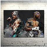 Conor McGregor - Póster motivacional de boxeo o lienzo para decoración de sala de estar, 60 x 90 cm, sin marco