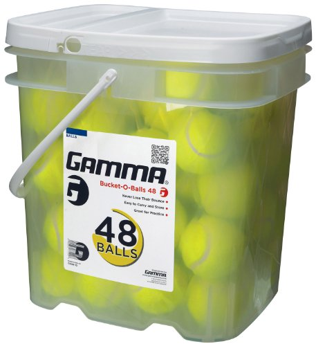 GAMMA Pressureless Tennis Ball Bucket| Case w/48 Practice Balls|...
