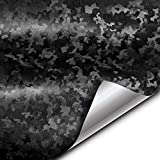 VViViD+ 2020 Edition Black Stealth Small Pattern Camouflage Vinyl Wrap Roll (1.5ft x 5ft)