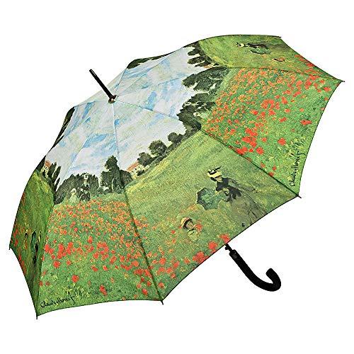 VON LILIENFELD Regenschirm Automatik Damen Kunst Motiv Claude Monet: Mohnblumenfeld