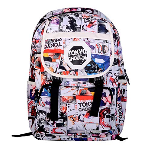 Tokyo Ghoul Casual Backpack Solid Color Business Men Large Backpack with USB Charging Port Water Resistant College School Bag Unisex (Color : Black, Size : 30 X 13.5 X 43cm)