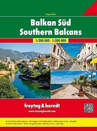 Southern Balcan Serbia-Montenegro-Kosovo-Macedonia-Albania 1:200.000: Wegenatlas 1:200 000