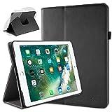 doupi Deluxe Protección Funda para iPad Pro (9,7 Pulgadas), Smart Sleep/Wake Up función 360 Grados giratoria del Caso del Soporte Bolsa, Negro
